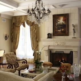 гостиная в классическом стиле фото