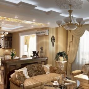 гостиная в классическом стиле виды