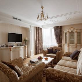 гостиная в классическом стиле виды фото