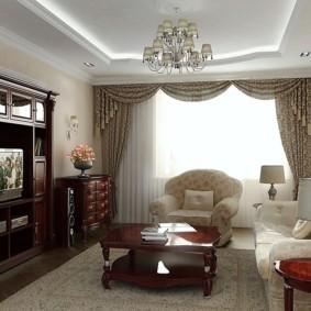гостиная в классическом стиле фото виды