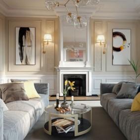 гостиная в классическом стиле идеи дизайн
