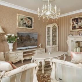 гостиная в классическом стиле виды декора