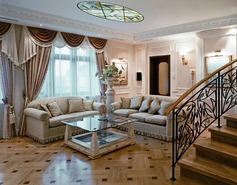 гостиная в классическом стиле пол