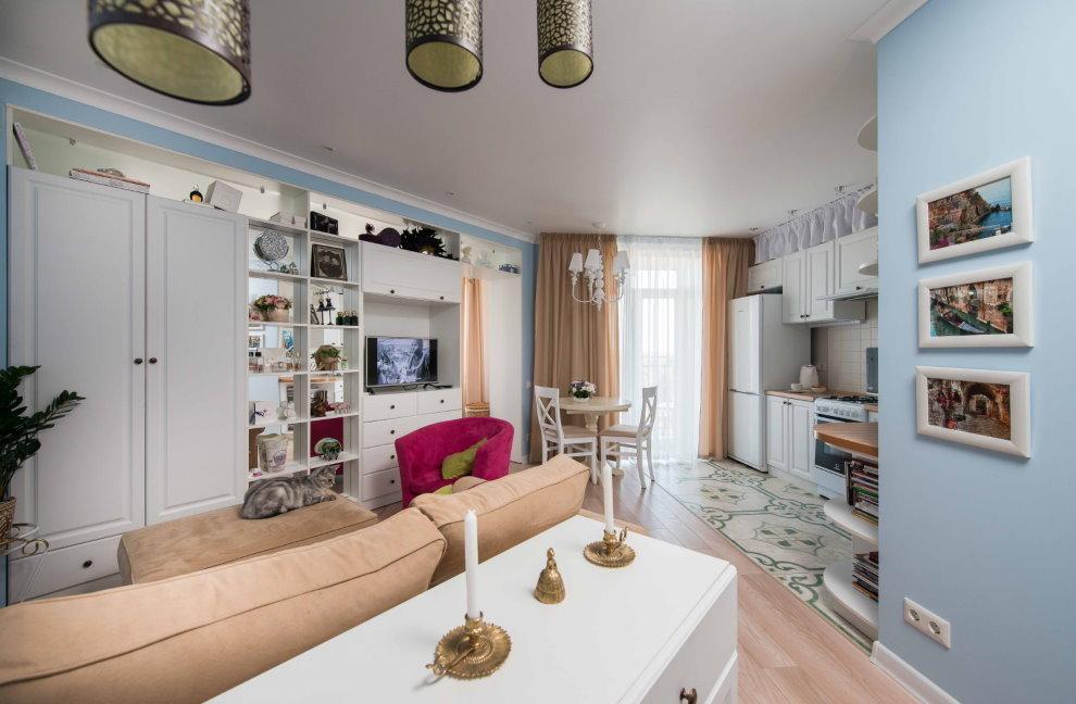 Планировка квартиры-студии в современном стиле