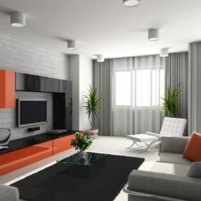 гостиная в современном стиле оформление