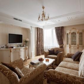 гостиная в современном стиле виды декора
