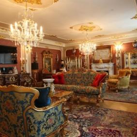 гостиная в стиле барокко идеи фото
