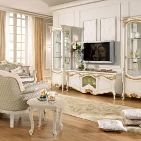 гостиная в стиле барокко дизайн