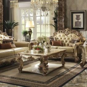 гостиная в стиле барокко дизайн фото