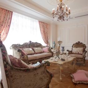 гостиная в стиле барокко фото дизайна