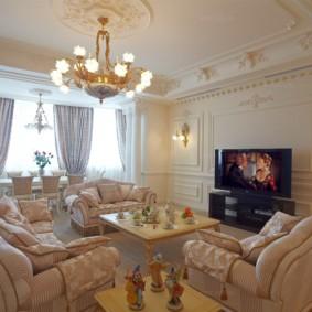 гостиная в стиле барокко идеи дизайн