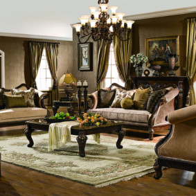 гостиная в стиле барокко идеи дизайна