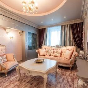 гостиная в стиле барокко декор идеи