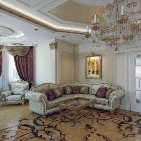 гостиная в стиле барокко идеи декор