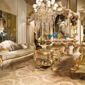 гостиная в стиле барокко идеи декора