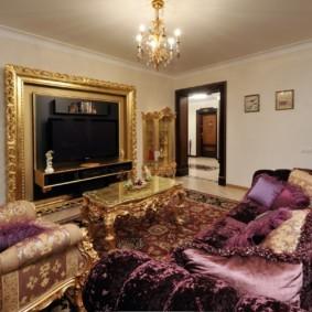 гостиная в стиле барокко интерьер фото