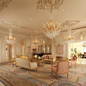 гостиная в стиле барокко фото интерьера