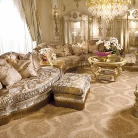 гостиная в стиле барокко интерьер идеи