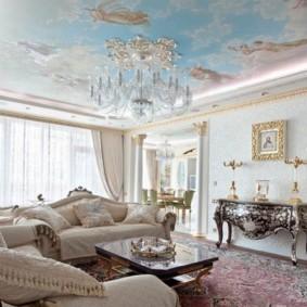 гостиная в стиле барокко идеи интерьер