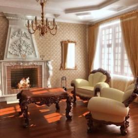гостиная в стиле барокко оформление