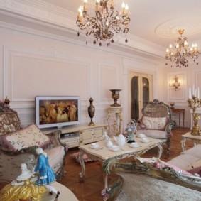 гостиная в стиле барокко оформление фото