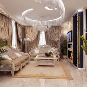 гостиная в стиле барокко фото оформление