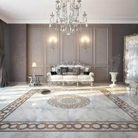 гостиная в стиле барокко фото оформления