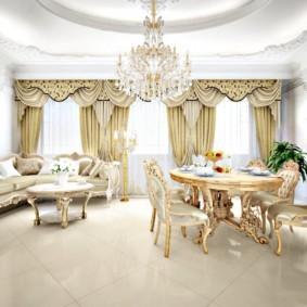 гостиная в стиле барокко оформление идеи