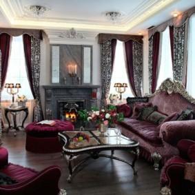 гостиная в стиле барокко идеи оформления