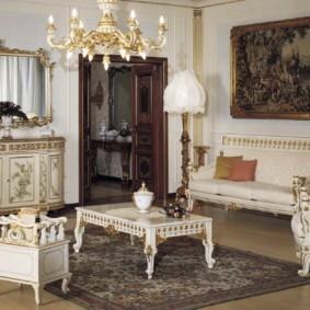 гостиная в стиле барокко варианты