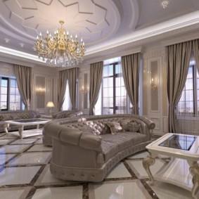 гостиная в стиле барокко фото варианты