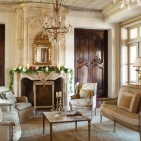 гостиная в стиле барокко варианты идеи
