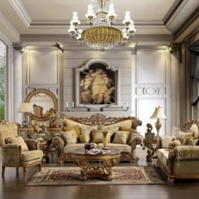 гостиная в стиле барокко идеи вариантов
