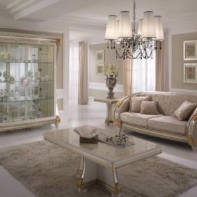 гостиная в стиле барокко виды фото