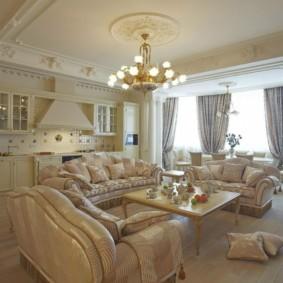 гостиная в стиле барокко фото виды