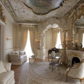 гостиная в стиле барокко фото видов