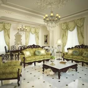 гостиная в стиле барокко виды идеи