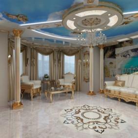гостиная в стиле барокко идеи виды