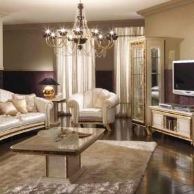 гостиная в стиле барокко обзор
