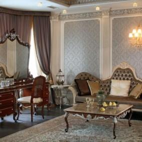 гостиная в стиле барокко виды дизайна