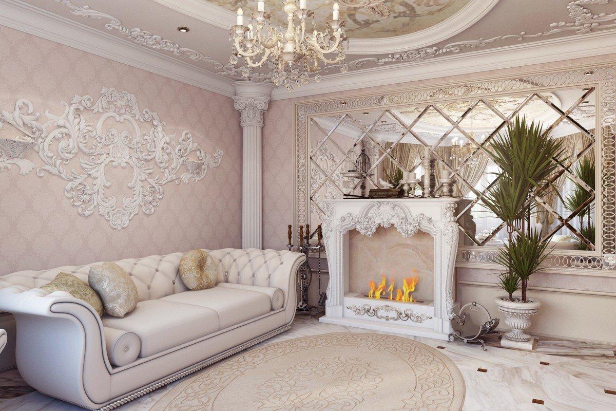 гостиная в стиле барокко декор фото