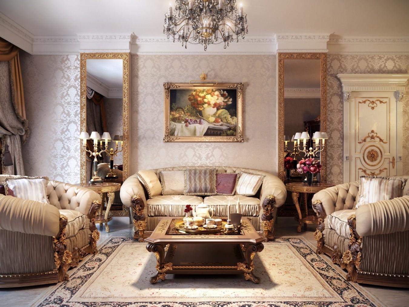 гостиная в стиле барокко дизайн идеи