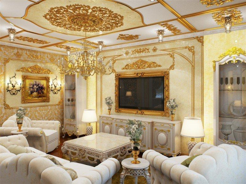 гостиная в стиле барокко фото идеи