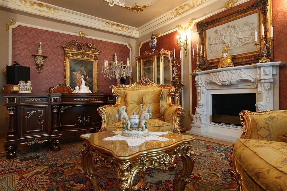гостиная в стиле барокко идеи