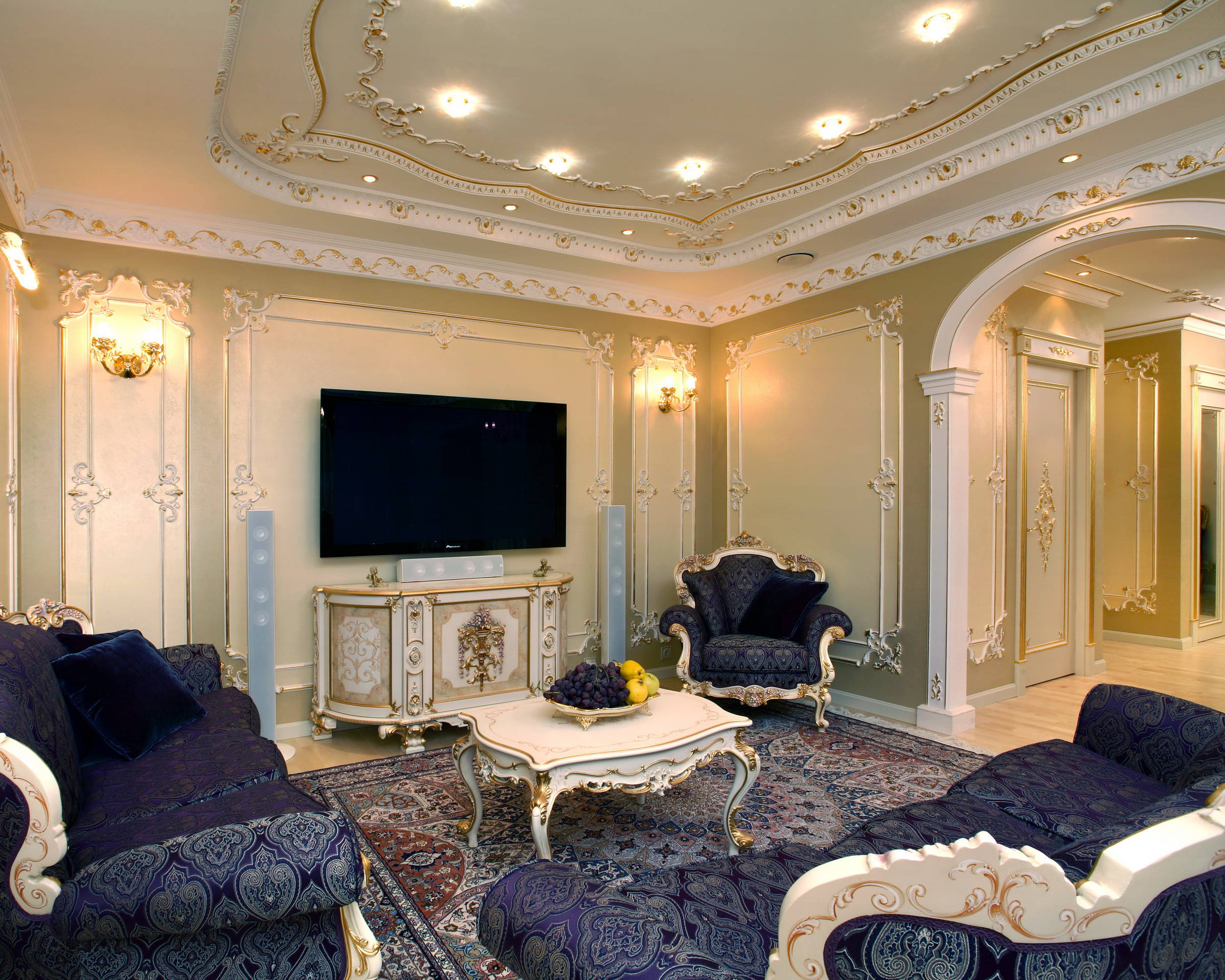 гостиная в стиле барокко интерьер