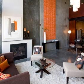гостиная в стиле лофт фото дизайна
