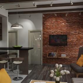 гостиная в стиле лофт фото декора