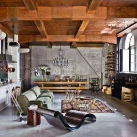 гостиная в стиле лофт идеи декор