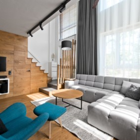 гостиная в стиле лофт интерьер идеи