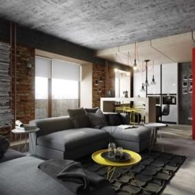гостиная в стиле лофт идеи оформление